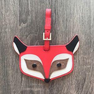 NWOT Kate Spade Fox Luggage Tag